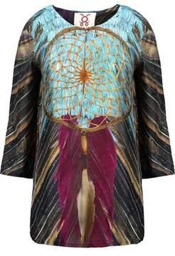Figue Iris Printed Silk-Satin Top