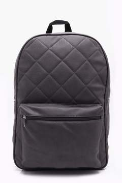 boohoo Charcoal Quilted Backpack
