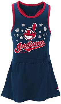Majestic Baby Girl Cleveland Indians Criss-Cross Tank Dress