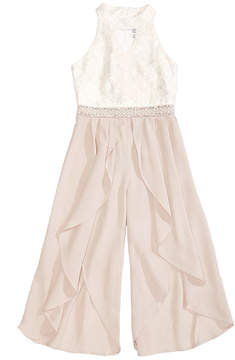 Beautees Embellished Lace Jumpsuit, Big Girls