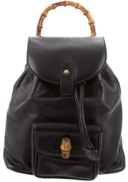 Gucci Vintage Mini Bamboo Backpack