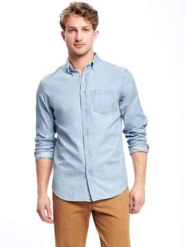Old Navy Slim-Fit Classic Chambray Shirt For Men