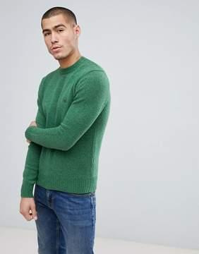 Benetton Sweater In Shetland Wool In Green