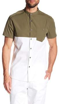Kenneth Cole New York Colorblock Short Sleeve Regular Fit Shirt