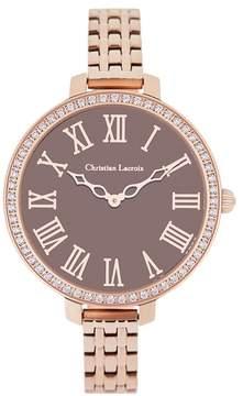 Christian Lacroix Women's Signature Crystal Bracelet Watch, 38mm