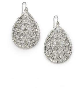 ABS by Allen Schwartz Pave Openwork Teardrop Earrings