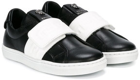 Young Versace touch fastening sneakers