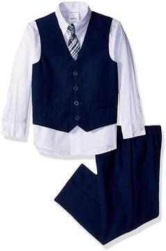 Van Heusen Academy Blue & White Four-Piece Suit - Toddler