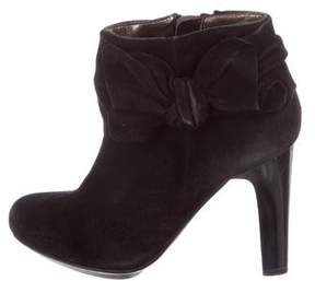 DKNY Suede Bow-Accented Booties