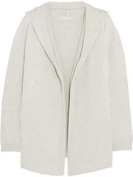 Eberjey Paula Knitted Hooded Cardigan - Light gray