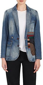 Kolor Women's Patchwork-Pocket Cotton Two-Button Blazer