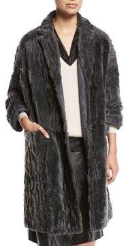 Brunello Cucinelli Animale Reversible Shearling Coat
