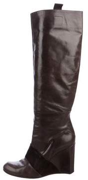 CNC Costume National Knee-High Wedge Boots
