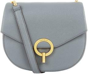 Sandro Leather Cross Body Saddle Bag