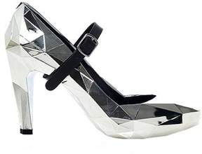 United Nude Women's Silver Synthetic Fibers Pumps.