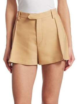 Chloé Pleated Wool Shorts