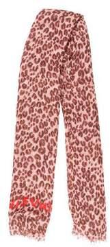 Louis Vuitton Cashmere & Silk-Blend Leopard Stole