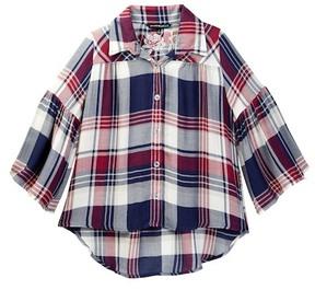 My Michelle mymichelle Plaid Shirt (Big Girls)