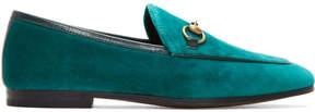 Gucci Blue Velvet Jordaan Loafers