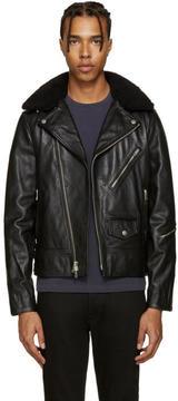 Rag & Bone Black Leather Buzz Jacket