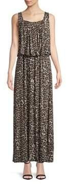 Context Leopard-Print Sleeveless Dress