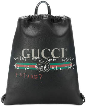 Gucci Coco Capitán logo backpack