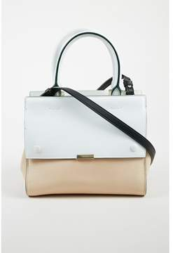 Victoria Beckham Pre-owned Multicolor Leather Colorblock Crossbody Top Handle Tote Bag.