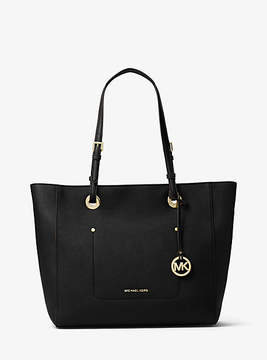 Michael Kors Walsh Large Saffiano Leather Tote - BLACK - STYLE