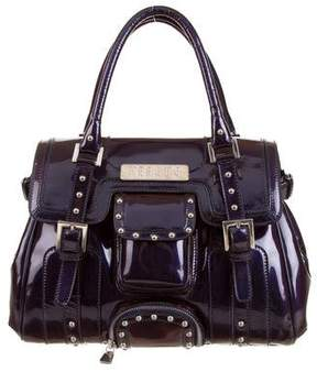 Versus Iridescent Patent Leather Studded Handle Bag
