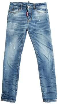 DSQUARED2 Printed Stretch Light Denim Jeans