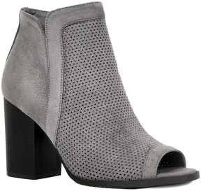 Refresh Gray Peep-Toe Debra Bootie
