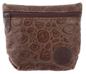 Carlos Falchi Embossed Coin Pouch