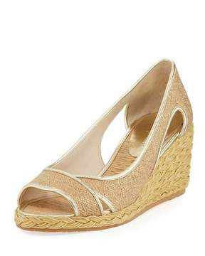 Donald J Pliner Coraa Metallic Wedge Espadrille Sandal, Gold