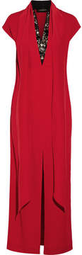 By Malene Birger Lappi Crystal-embellished Crepe Maxi Dress - Red