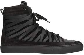 Officine Creative Damir Doma x Falco Black Leather And Suede Sneakers