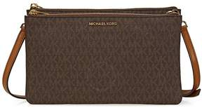 Michael Kors Adele Double Gusset Signature Crossbody - Brown - ONE COLOR - STYLE