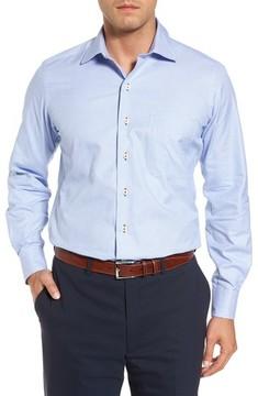 David Donahue Men's Regular Print Sport Shirt