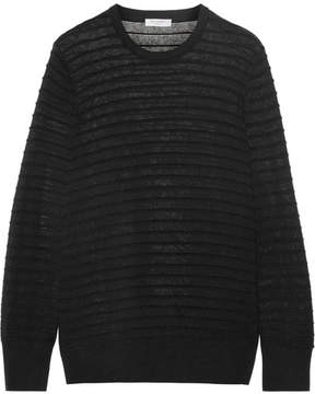 Equipment Rei Ribbed Cotton And Silk-blend Sweater - Black