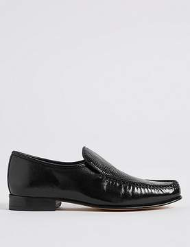 Marks and Spencer Leather Slip-on Weave Print Loafers