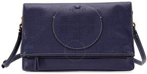 Tory Burch Perforated Logo Fold Over Crossbody - Royal Navy - ONE COLOR - STYLE