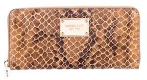 Michael Kors Embossed Leather Zip Wallet