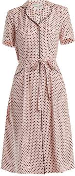 DAY Birger et Mikkelsen HVN Maria polka-dot print silk dress