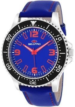Seapro SP5313 Men's Tideway Blue Leather Watch
