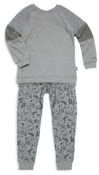 Splendid Toddler's & Little Boy's Raglan Sweater and Printed Pants Set