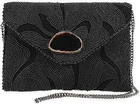 Mary Frances Earth Energy Beaded Embroidered Crossbody Clutch