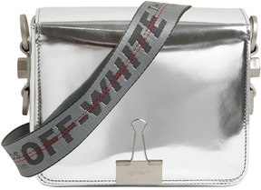 Binder Clip Mirror Leather Shoulder Bag