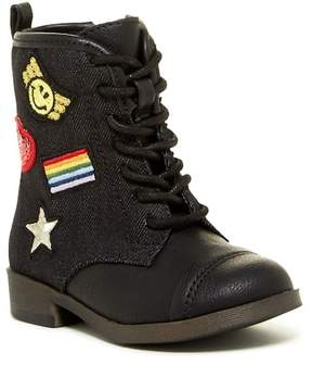 Mia Patches Cap Toe Boot (Toddler & Little Kid)