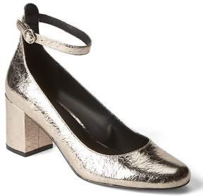 Gap Metallic ankle strap block heels