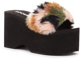 Rocket Dog Boom Faux Fur Platform Sandal