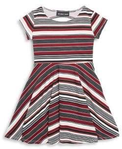 Un Deux Trois Girl's Stripe Fit & Flare Dress